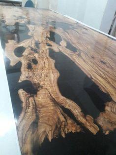 Olive Black epoxy TableBlack resin table olive table CUSTOM | Etsy Wood Bar Table, Wood Resin Table, Resin Furniture, Unique Furniture, Furniture Ideas, Above And Beyond, Epoxy, Fractal Art, Fractals