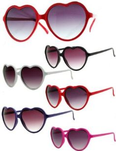 Heart Shaped Sunglasses (Red) Flyclothing. $6.00