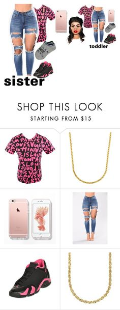 """""""toddler&sister outfit"""" by babyyfacekyraa ❤ liked on Polyvore featuring Louis Vuitton, Retrò and Lord & Taylor"""