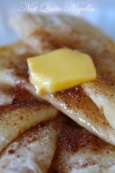 Potato Pancakes With Butter & Cinnamon Sugar