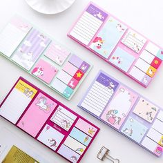 Cartoon Unicorn Dream Memo Pad N Times Sticky Notes Memo Notepad Bookmark Gift Stationery Cartoon Unicorn, Cute Unicorn, Memo Notepad, Note Memo, Cute Stationary, Kawaii Stationery, Korean Stationery, School Stationery, Cute School Supplies