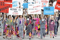 A Protest at Chanel? If There's Only One Fashion Week Thing You Pay Attention to, It Should DEFINITELY Be This