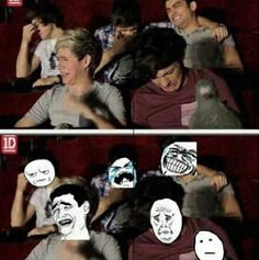 One Direction + meme faces= the perfectest thing of my life. One Direction Memes, I Love One Direction, One Direction Cartoons, Pokerface, Hilarious, Funny Memes, 1d And 5sos, Meme Faces, Boys Who