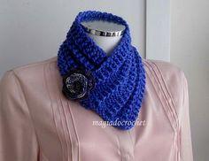 Magia do Crochet: Cachecol em tricot para a Primavera