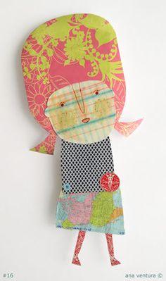 scraps of paper doll #16 by ana ventura, via Flickr