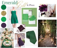 Our wedding colors!!! Emerald gold and plum!!
