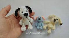 Miniature Puppy ~ Amigurumi To Go, #crochet, free pattern, stuffed toy, keychain, #haken, gratis patroon (Engels), sleutelhanger, knuffel, speelgoed, hond, puppy, #haakpatroon