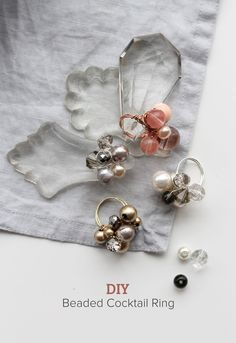 DIY : Beaded Wire Cocktail Ring - Jewelry From Home Blog