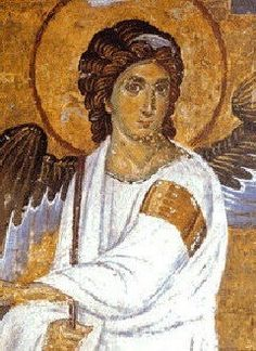 Angel in White, painted in 1230 at the Mileseva Monastery, Serbia