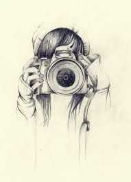 I find this picture stunning, the detail is amazing. I love it because it looks so real and how it fades away under her elbows. This picture show talent and hard work, I love the image of a teenager taking a photo with a camera. This artwork is simply brilliant.