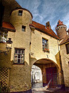 Quaint old house in Bruges, Belgium