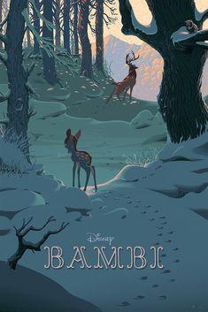 Bambi by Walt Disney, illustrator Laurent Durieux Disney Sketch, Draw Disney, Disney And Dreamworks, Disney Pixar, Disney Films, Disney Villains, Expo Disney, Disney Shows, Disney Fan Art