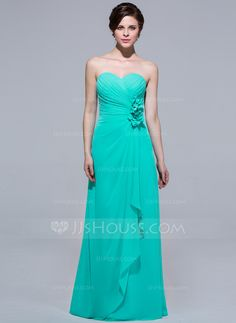 Bridesmaid Dresses - $109.99 - A-Line/Princess Sweetheart Floor-Length Chiffon Bridesmaid Dress With Ruffle Flower(s) (007037216) http://jjshouse.com/A-Line-Princess-Sweetheart-Floor-Length-Chiffon-Bridesmaid-Dress-With-Ruffle-Flower-S-007037216-g37216?ver=1