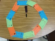 Great idea for teaching time using a number line and wrapping it around to form a circle