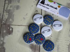 A set of Pre EU badges fresh off the workbench. These are still mega popular.