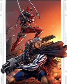 Deadpool and Cable (by: Rahman Hondoko)