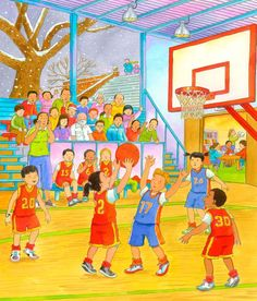 Who is shooting the ball? Art Drawings For Kids, Drawing For Kids, Painting For Kids, Art For Kids, Spanish Classroom, Teaching Spanish, Teaching English, Anthony Lewis, Drawing Competition
