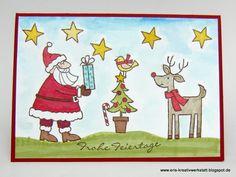#Weihnachtskarte und Tannenbäumchen-#Deko für Bastel-AG und Weihnachtsfeier  http://eris-kreativwerkstatt.blogspot.de/2015/12/weihnachtskarte-und-tannenbaumchen-deko.html  #stampinup #teamstampingart #weihnachten #xmas #christmas #karte #homedeko