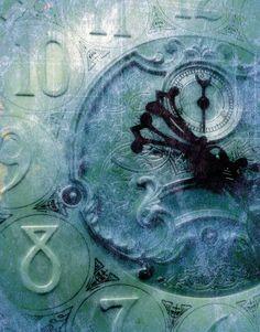 blue grandfather clock