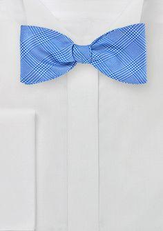 Blue Silk Bow Tie with Glen Checks, $29.90 | Cheap-Neckties.com