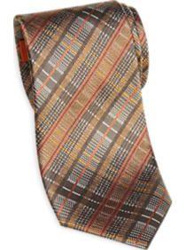 Egara Orange Plaid Tie