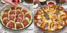 Today we have brought you a recipe for a food that is a bit special . Comida Diy, Salsa Bechamel, Bechamel Sauce, Tasty Meatballs, Meat Recipes, Cooking Recipes, Breakfast Items, Russian Recipes, Lunches And Dinners