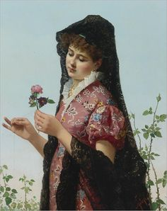 Filippo Indoni (1842-1908) Thoughts of love
