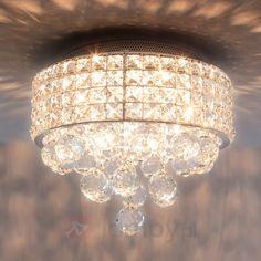 Połyskująca kryształowa lampa sufitowa TILLA 9973005