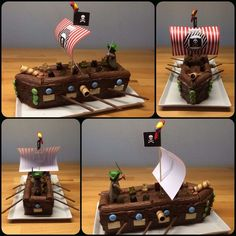 pirate ship 30 cm box shape = 15 pieces 400 g whole milk . Birthday pirate ship 30 cm box shape = 15 pieces 400 g whole milk .,Birthday pirate ship 30 cm box shape = 15 pieces 400 g whole milk ., Handprint Pirate Craft For Kids Pirate Birthday, Pirate Theme, 4th Birthday, Pirate Party Decorations, Party Themes, Indoor Activities For Kids, Childrens Party, Kids Meals, Pirate Ship Cakes