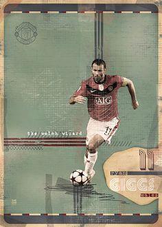 The Gods Of Football (Part I) by Marija Marković on Behance — Ryan Giggs, #11, Wales