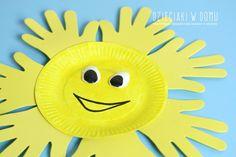 paper plate sun craft / słońce z papierowego talerzyka