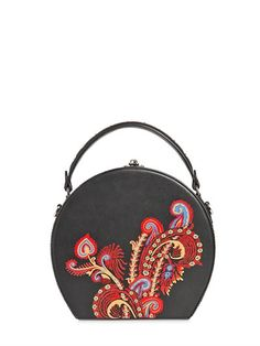 BERTONI 1949 - MINI BERTONCINA PAINTED LEATHER BAG - BLACK