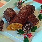 Tronchetto di Natale farcito con crema di zabaglione