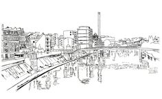 River and Industrial Area in Paris