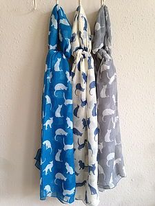 Cute Cats Scarf by French Grey Interiors, the perfect gift for Explore more unique gifts in our curated marketplace. Cat Lover Gifts, Cat Gifts, Cat Lovers, Pretty Cats, Cute Cats, French Grey Interiors, Cat Scarf, Gray Interior, Scarves