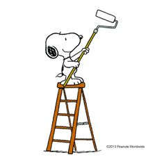 Snoopy, painting...coulda used his help at the beginning of summer vacation!!!