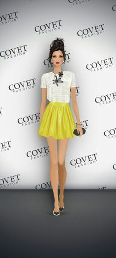Who Wore It Best - Partyskirt in Yellow by PARTYSKIRTS by SKOT #fall2014 #woreitbest