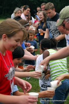 This past weekend we had theprivilegeof attending our church family camp. We had a great time growing as a church family. They did a lot of family friendly games and activities that I thought would be fun to pass along in case you needed ideas for games and relays to play atretreats, camps or parties. 1. Mattress Pass– Your team sits facing each other with legs out. Then, you put… {Read More}