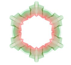 Tips for making Guilloche patterns. The gradient used in this one is interesting