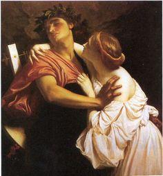 Frederic Leighton, Orpheus and Eurydice, 1864