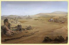Fallout Online. Desert Wasteland Landscape.