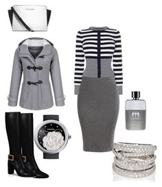 """""""Untitled #117"""" by pentecostal-apostolicfashion2016 on Polyvore featuring Karen Millen, Roger Vivier, Chanel, Sidney Garber, Michael Kors and Gucci"""