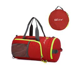 TANLUHU B128 Outdoor Sport Large Capacity Multifunction Foldable Waterproof Couples Portable Luggage Shoulder Bag Travel Duffle Red -- Click image for more details. This Amazon pins is an affiliate link to Amazon.