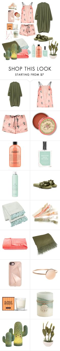 """""""Lazy is My Speciality!"""" by tattookiki ❤ liked on Polyvore featuring Gap, River Island, Anthropologie, philosophy, Anese, Drybar, Puma, Berkshire, Williams-Sonoma and Rebecca Minkoff"""