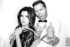 'Behind The Music!' @Jen_Lilley & @EricMartsolf of @NBCDays #DaysOfOurLives for #DreamLoudOfficial. When Behind the Scenes pics are this fun I can't help but share them! Something tells me that this is what goes on with these two on set on a daily basis! ;)  Eric couldn't help rockin' out, or doing his best @1CaseyMoss impression while @MollyBurnett was helping to tie the two up setting up for the shot! / Photograph By @Bradley206 #BradEverettYoung DreamLoudOfficial.com /   #DreamLoud…