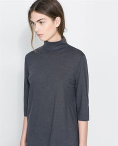 ZARA - SALE - T-SHIRT WITH OPENING AT THE BACK