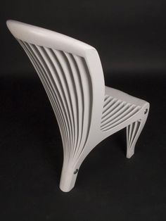 Layer Chair by Joachim King, a cabinetmaker based in Glasgow, UK. King strives to bring new and unusual forms to the functions of furniture. This chair appears to have been split into several pieces and then pinned back together. In fact, the 14 pre-cut profiles are carefully shaped to give ergonomic seating surfaces. The shape of the chair is derived from the tensions and stresses resulting from pinning and supporting layers in certain places. Available in Birch ply or mdf in various…