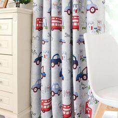 定制款 韩式儿童窗帘 卧室客厅儿童房遮光布 卡通汽车