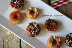 Mini Sourdough Doughnuts, vegan option, mini or regular sized.