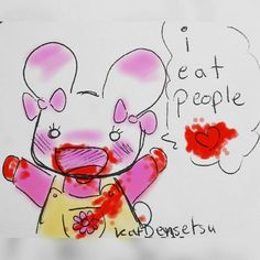 katdensetsu:  #cutebutpsycho  --------------------------  #bunny #kawaii #rabbit #aww #bloody #blood #morbid #colored #colorful #cute #cannibal #ieatpeople #stickynote #pendoodle #stickynotes #doodle #myart #traditionalart #artistsoninstagram #art #drawing #illustration #artist #phoenix #losangeles #cartoon #comedy #funny #cartoonist  cute kawaii bunny usagi bloody art artist art work artist on tumblr #anime #cosplay #costume #otaku #gamer #videogames